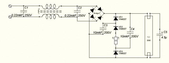 Инвертор для 36W из неработающего ATX 300W