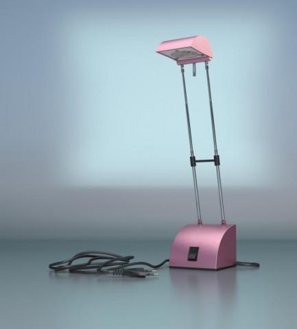 Розовая лампа