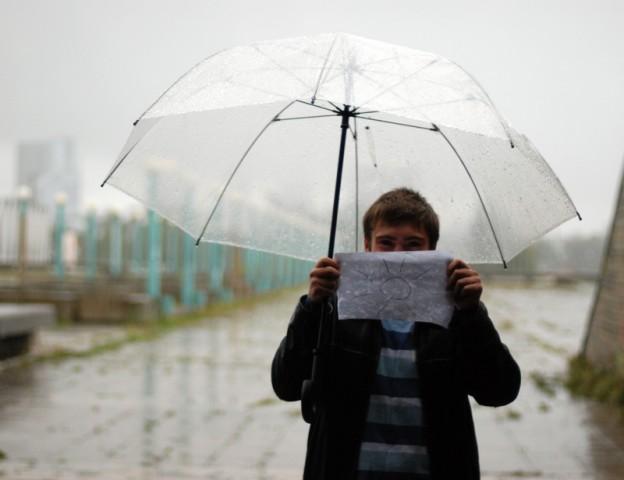 Типа, даже под дождем может светить солнышко (: