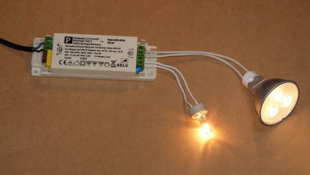 как совместить галогенки и светодиоды?