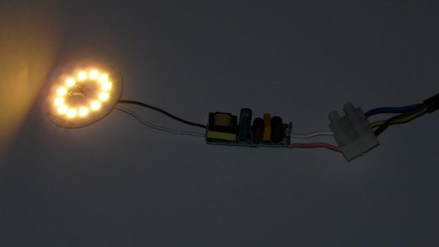 внутренности LED-лампочки