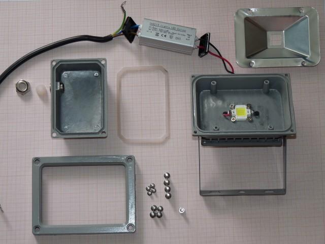 внутренности LED-прожектора