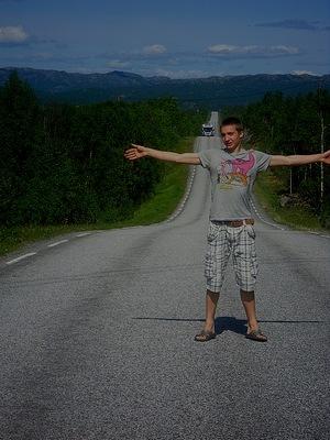 волнистая дорога в норвегии