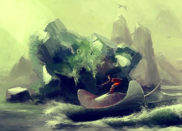 stingray surfer By exeshe4ki