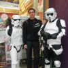 with troopers